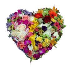 Corazon flores variadas