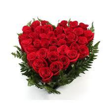 Corazon de rosas a domicilio