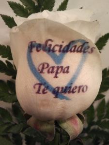Envio de rosa para el dia del padre